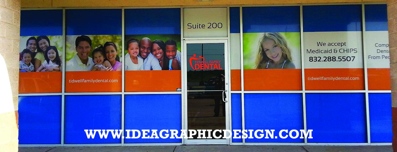 Window Graphic Idea For Dental Clinic