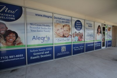 Dental Clinic Window Graphic